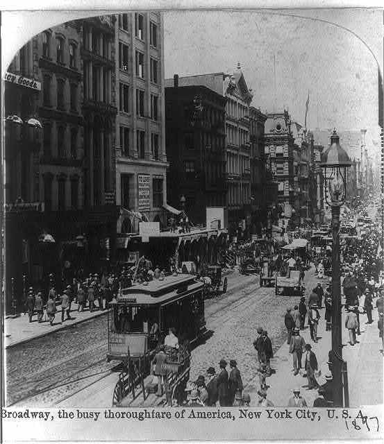 Streetcar on Broadway, New York City.