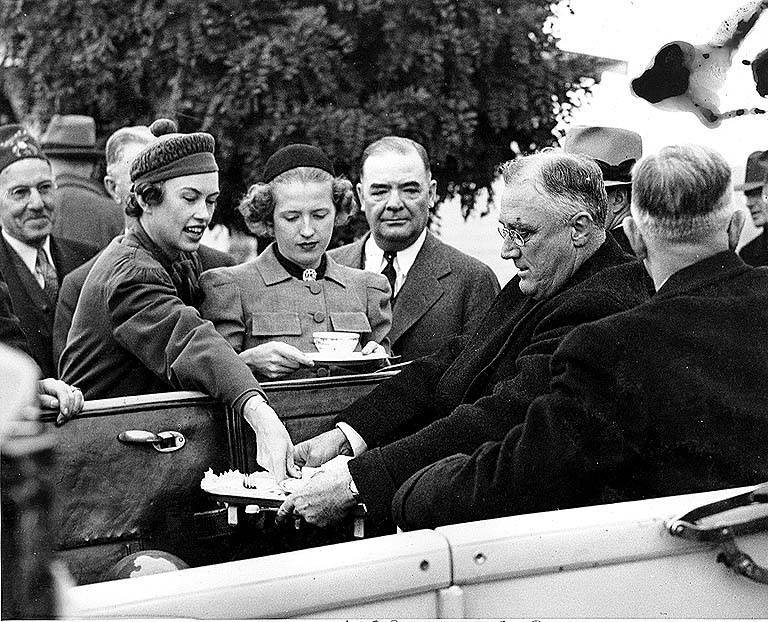 President Franklin D. Roosevelt's visit to the Grand Coulee Dam construction site, October 2, 1937