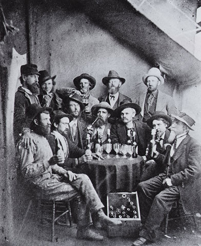 Miners Drinking in a Colorado Saloon