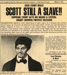 Dred Scott Newspaper  Article, March 7th, 1857.