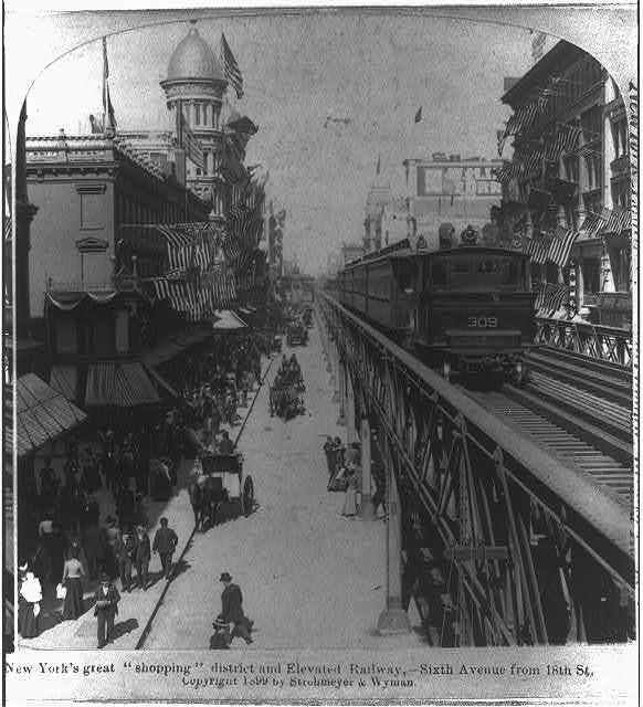 Elevated Railway.  New York City. 6th Ave