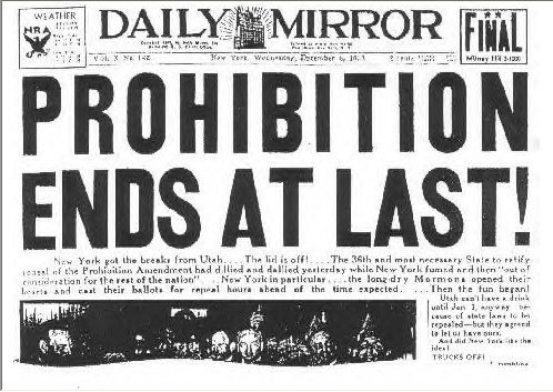 The End of Prohibition