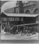 Immigration station, Ellis Island, N.Y.: immigrants entering building
