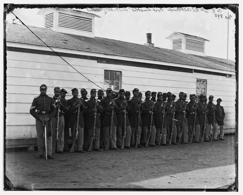 District of Columbia. Company E, 4th U.S. Colored Infantry, at Fort Lincoln