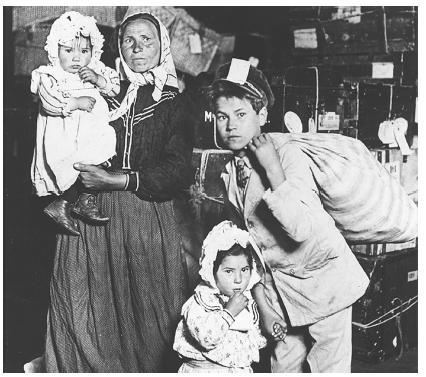 Italian Family Arriving at Ellis Island