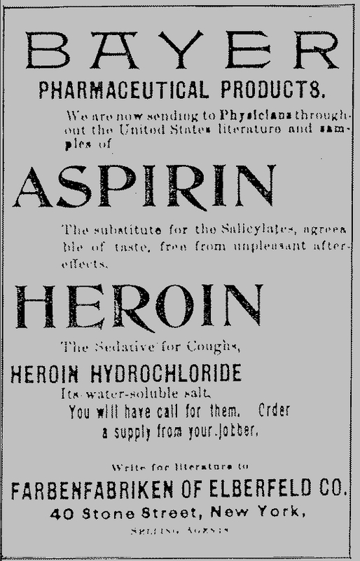 Bayer Advertisement for Heroin, 1897