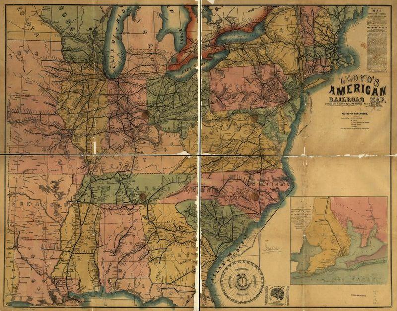 Lloyd's American railroad map.