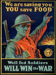 The promotion of rationing food for the troops