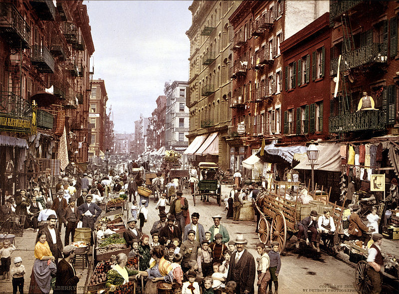 Mulberry Street, New York City, ca. 1900
