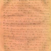 Captain E.W. Fuller letter to Mary Fuller, letter 2, page 3