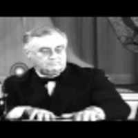 "US President Franklin Roosevelt's ""Great Arsenal of Democracy"" speech. HD Stock Footage"