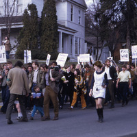 March in protest of the Vietnam War