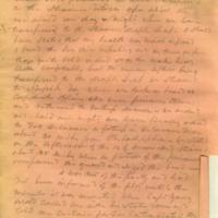 Captain E.W. Fuller letter to Mary Fuller, letter 2, page 2