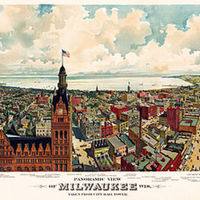 Panoramic View of Milwaukee Wisc. Taken from City Hall Tower