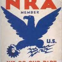 NRA Blue Eagle Poster