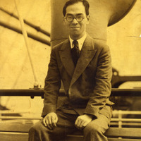 Shiro Takeda on a ship from the United States to Japan, 1932