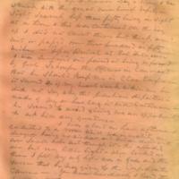 Captain E.W. Fuller letter to Mary Fuller, letter 3, page 3