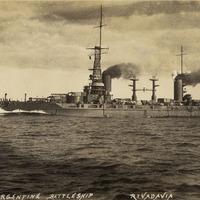 Battleship Rivadavia postcard