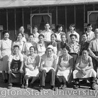 Mess hall staff from Heart Mountain Relocation Center