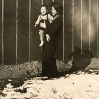 Hisako Takeda holding her son, Terry