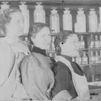 Three Female Chemistry Students ca 1897