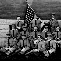 Cadets and Officers, ca. 1895