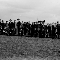 Group of Students Watching the Drill of Cadets, ca.1897