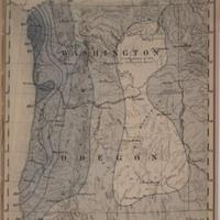 Mean seasonal rainfall in inches, wet season, October - April [Washington and Oregon], 1888