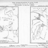 Deep water entrances to Puget Sound, Deception Pass, Admiralty Inlet, (1884)