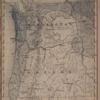 Mean seasonal rainfall in inches, dry season, May - September [Washington and Oregon], (1888)