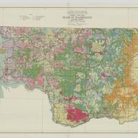 Forest type map, state of Washington, SW sheet (1936)