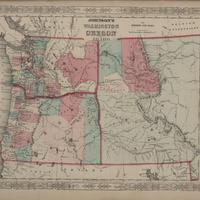 Johnson's Washington, Oregon and Idaho, (1863)