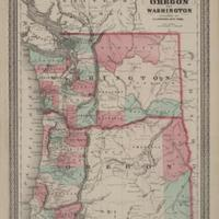 Johnson's Oregon and Washington, (1873).
